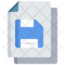 Save Document Back Up Note Icon