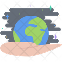 Hand Earth Planet Icon