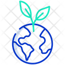 Save Earth Save Enviroment Green Energgy Icon