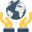 Save Earth Hands Icon