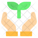 Save Leaf Hand Icon