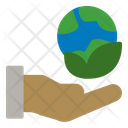 Eco Earth Hand Icon
