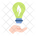 Clean Energy Bulb Lamp Icon