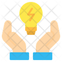 Lightbulb Bulb Hand Icon
