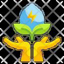 Save Energy Hand Innovative Icon