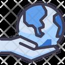 Hand Hold Globe Globe Earth Icon