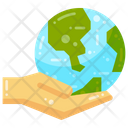Hand Hold Globe Globe Earth Icon