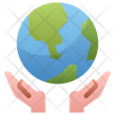 Save Environment Hand Hold Icon