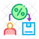 Business Man Percent Icon