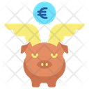 Mpiggy Bank With Wings Save Money Piggy Bank Icon