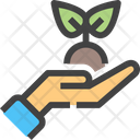 Hand Plant Growth Icon