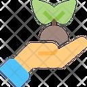 Hand Plant Growth Icon