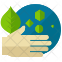 Hand Save Plant Icon