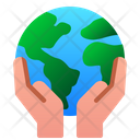Save Earth Hand Icon