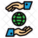 Save The Planet Global Earth Icon