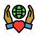 Save The World Love World Earth Day Icon