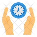 Save Time Time Management Hands Icon