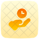 Save Time Share Gesture Icon