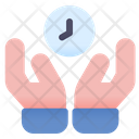Save Time Holding Time Time Hand Icon