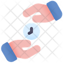 Save Time Holding Time Gift Time Icon