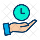 Save Clock Time Management Clock Icon