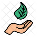 Leaf Hand Save Icon