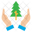 Hand Plant Tree Farming And Gardening Sprout Icon
