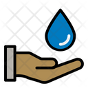 Water Hand Ecology Icon