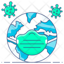 Save Earth Corona Protection Save World From Coronavirus Icon