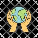 Saved Planet Save Globe Save Environment Icon