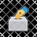 Saving Box Bitcoin Icon