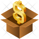 Box Business Dollar Icon