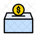 Saving Box Dollar Icon