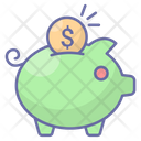 Saving Piggybank Money Icon