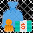 Saving Money Bag Money Icon