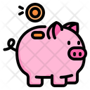 Saving Piggy Investment Icon