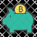 Saving Bitcoin Piggy Icon