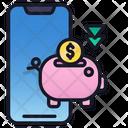 Saving Money Finance Mobile Icon