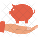 Saving Piggy Emergency Funds Penny Bank Icon