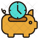 Save Time Piggybank Icon