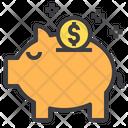 Savings Piggy Banking Cash Icon