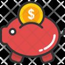 Saving Piggy Bank Icon