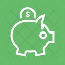 Savings Piggy Banking Icon