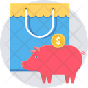 Piggy Bank Bag Shopping Icon