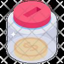 Savings Jar Money Funds Icon
