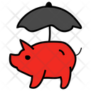 Savings Protection Piggy Bank Insurance Icon