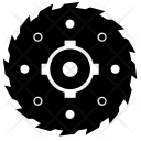 Saw Complex Round Icon