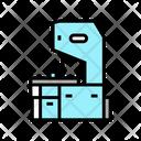 Saw Cutting Machine Machine Factory Icon