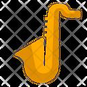 Saxophone Jazz Instrument Icon