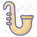 Saxophone Musical Instrument French Horn Icon